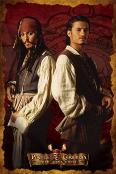 Pirates of Caribbean 2 - DUO Poster, Art Print