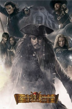 Pirates of Caribbean- All together Poster, Art Print
