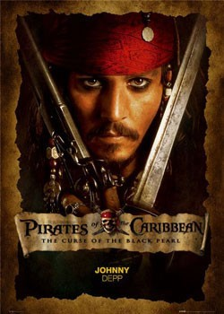 Pirates of Caribbean - Depp close up Poster
