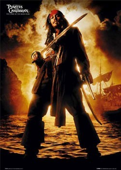 Pirates of Caribbean - Depp Poster, Art Print