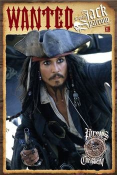 Pirates of Caribbean - Depp wanted Poster, Art Print