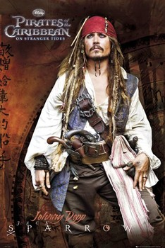 PIRATES OF THE CARIBBEAN 4 - jack standing Poster, Art Print