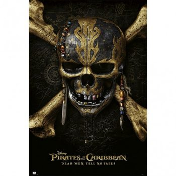Pirates Of The Caribbean Dead Men Tell No Tales - Skull Poster