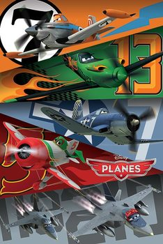 Planes - Colours and numbers Poster