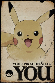 Pôster Pokemon - Pikachu Needs You