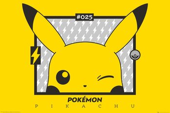 Pokemon - Pikachu wink Poster