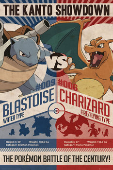Poster  Pokémon - Red v Blue