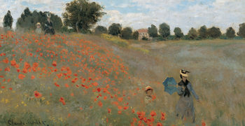 Poppies, Poppy Field, 1873 (část) Art Print