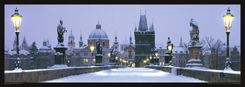 Prague – Charles bridge / snow Poster