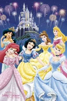 PRINCESAS DISNEY - glamour Poster