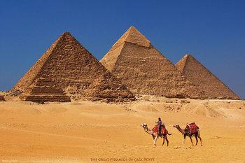 Pyramids of Giza - Agypten Poster