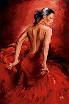 R. Magrini Flamenco - Red Dancer Poster