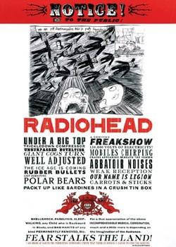 Radiohead - fear notice Poster