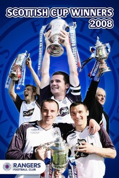 Poster Rangers - cup winners 07/08