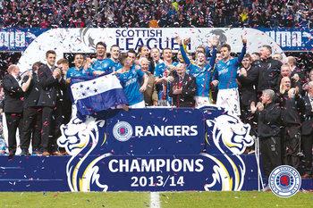 Poster Rangers FC - League One Winners 13/14