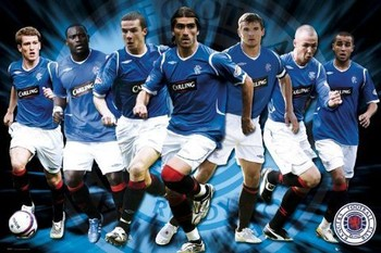 Rangers - players 08/09 Poster