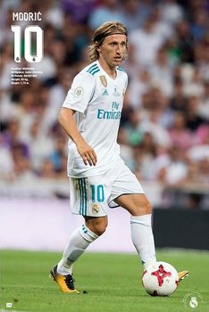 Poster  Real Madrid 2017/2018 - Modric Accion