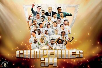 Real Madrid - Campeones 2019/2020 Poster