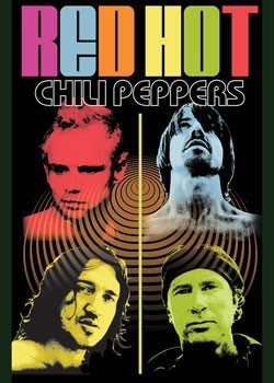 Poster Red hot chili peppers - colour me