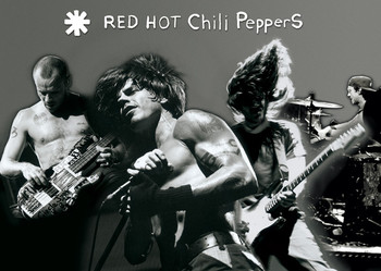 Poster Red hot chili peppers - montage