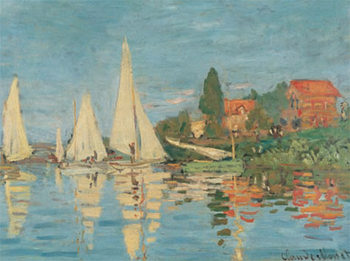 Regattas at Argenteuil Art Print