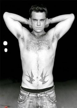 Robbie Williams - torso b&w Poster