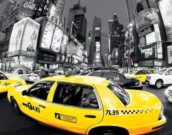 Rush hour Times square Poster