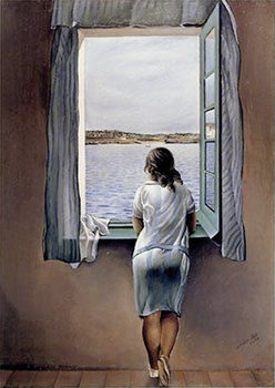 Poster SALVADOR DALÍ - woman at the window, 1925
