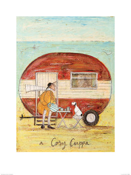 Sam Toft - A Cosy Cuppa Art Print