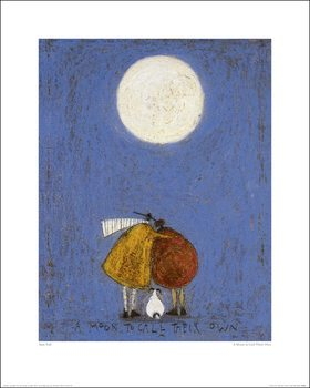 Sam Toft - A Moon To Call Their Own Art Print