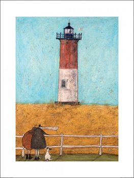 Sam Toft - Feeling the Love at Nauset Light Art Print