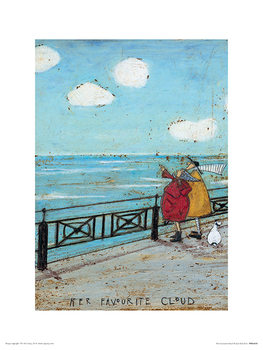 Wooden Wall Small Sam Toft Art Print On Wood 40 x 60cm Her Favourite Cloud