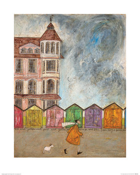 Sam Toft - I Can Sing a Beach Hut Art Print