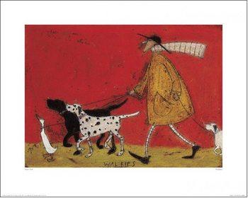 Sam Toft - Walkies Art Print