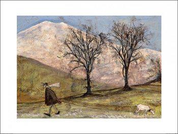 Sam Toft - Walking with Mansfield Art Print