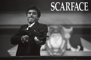 Scarface - b&w Poster