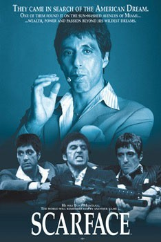 SCARFACE - blue Poster