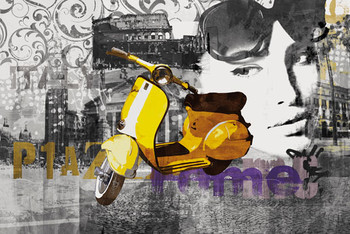 Scooter - roma,italy Poster