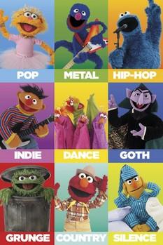 Poster  SESAME STREET - music genres
