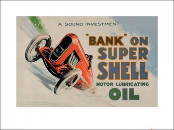 Shell - Bank on Shell - Racing Car, 1924 Art Print