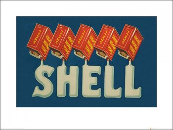 Shell - Five Cans 'Shell', 1920 Art Print