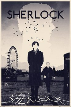 Sherlock - London Poster, Art Print