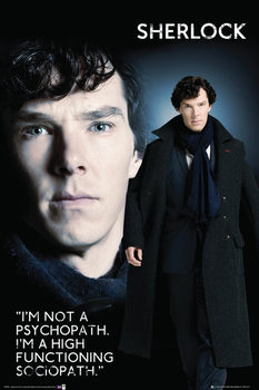 Pôster Sherlock - Sociopat