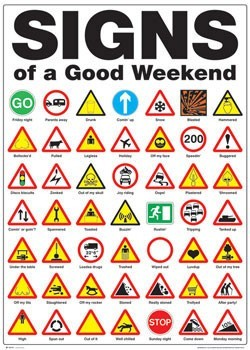 Signs of the good weekend Poster