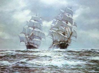 Silver Seas Art Print