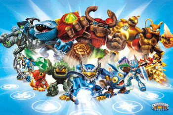 Skylanders Giants - group Poster