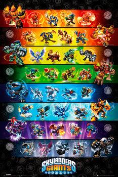 Skylanders Giants - stats Poster