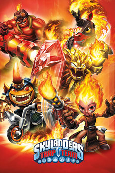 Skylanders Trap Team - Fire Poster