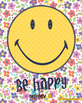 Smiley - be happy Poster