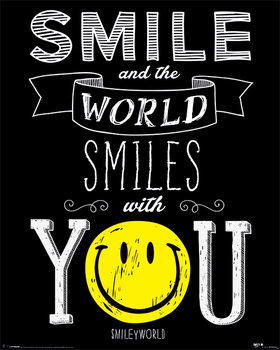 Poster Smiley - World Smiles With You